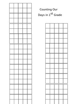 10 frame for Counting Your Days in School- Common Core Aligned