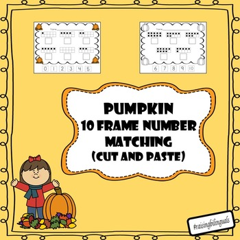 10 frame number matching cut and paste activity (1-10)