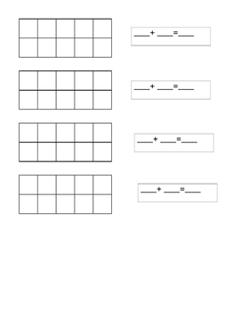 10 frame to add and find several ways to make a number