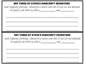 10 free fix-it up Minecraft sentences