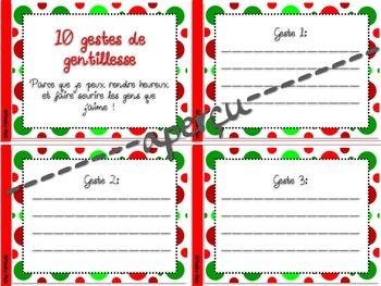 10 gestes de gentillesse - Cahier de bons