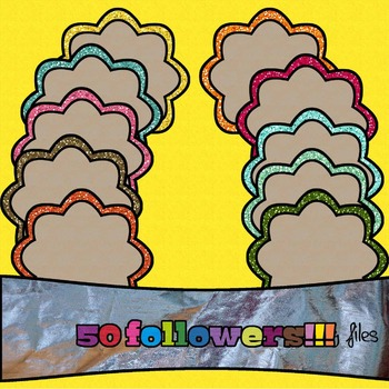 FRAMES. 10 glitter frames! *50 followers freebie!!!*