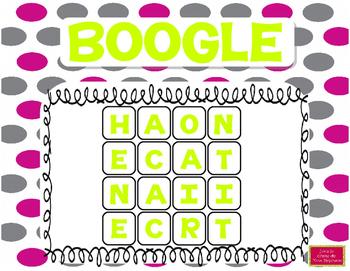 10 grilles de Boggle