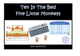 10 In The Bed & 5 Little Monkeys  Subtracting - Special Education, Kindy, Yr1