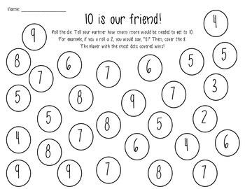 {Fact Fluency} 10 is our friend FREEBIE!