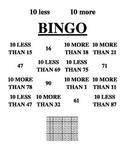 10 less 10 more bingo