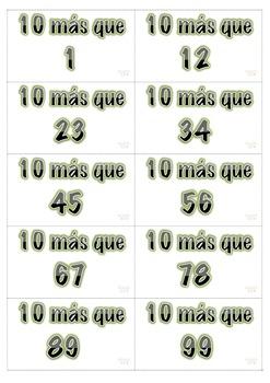 10 más-10 menos. Math Center