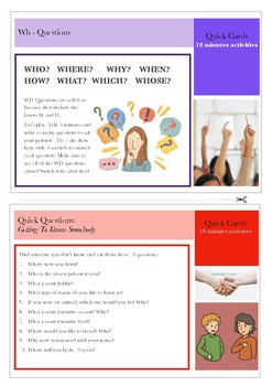 10 minutes Quick Cards: Asking Questions