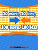 10 more, 10 less, 100 more, 100 less {Mental Math Activity}