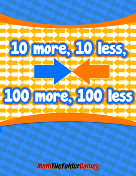 10 more, 10 less, 100 more, 100 less {Mental Math Activity}