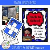 Back to School Hundreds Chart Worksheets