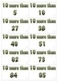 10 more-10 less. Math Center