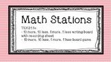10 more, 10 less Math Station