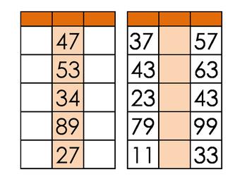 10 more / 10 less mat (place value)