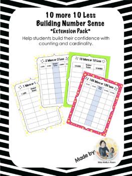 10 more or 10 less Building Number Sense