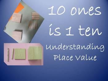 10 ones is  1 ten - place value (Australian Curriculum)
