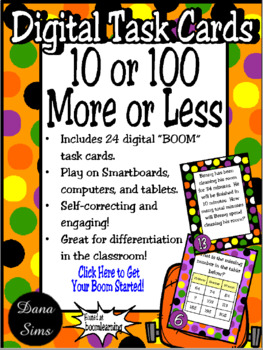 BOOM Cards: 10 or 100 More or Less (TEKS 2.7B)