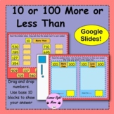 10 or 100 more or less than- 3 digit numbers- google slides