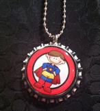 10 pack Student Reward Key Chains: Super Boy! Dangler for Lunchbox or Backpack