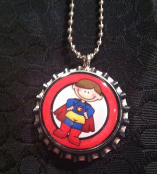 10 pack Student Reward Key Chains: Super Boy! Dangler for