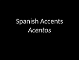 "Lesson 1- Intro to ""Acentos"" (1 of 10 ppt)"