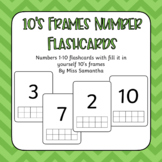 10's Frames Number Flashcards
