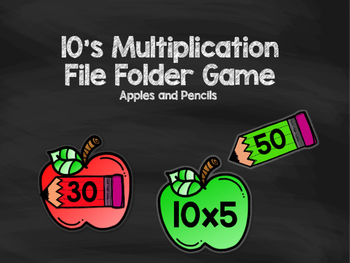 10's Multiplication File Folder