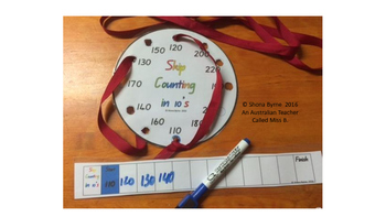 ACARA C2C 10's Skip Counting Fine Motor Patterns CCSS