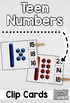 Teen Numbers Count and Clip Cards