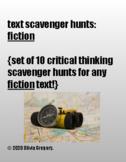10 text scavenger hunts: fiction (printable + e-learning!)