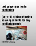 10 text scavenger hunts: nonfiction (printable + e-learning!)
