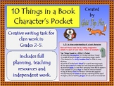 10 things in a book character's pocket (creative writing lesson)
