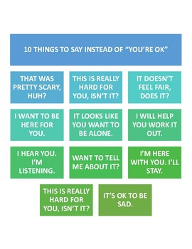"10 things to say instead of ""you're ok"""