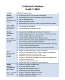 10-Week Complete Citizenship Program Curriculum
