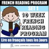 10 week French reading program - Set 1 - Lire tous les jou