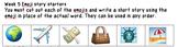 10 weeks of Emoji story prompts