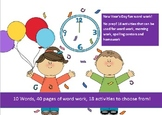 New Year's Day -10 word packet-20 activities of NO PREP word work-40 pages