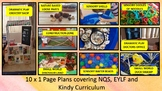 10 x 1 Page Plans for NQS, EYLF and Kindy Curriculum WA
