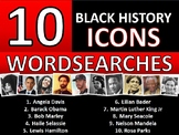 10 x Black History Month Famous People Icons Wordsearch Wordsearches Keywords