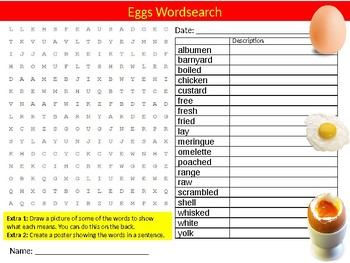 10 x Food Technology Wordsearches #2 Keyword Starters Settlers Wordsearch