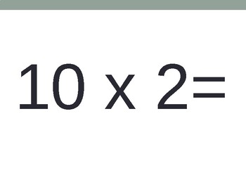 10 x Multiplication Flash Cards ppt