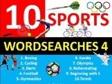 10 x Sports #4 Wordsearches PE Fitness Health Starter Settler Activity Homework