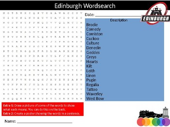 10 x World Cities Wordsearch Puzzle Sheet Keywords Geography Countries