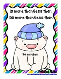 100 & 10 More Than 100 & 10 Less Than - Polar Bears and Hats