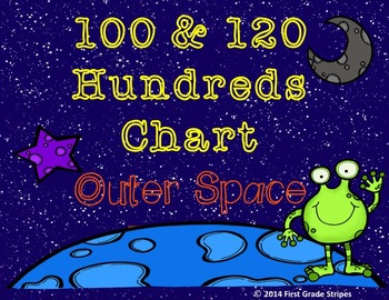 100 & 120 Hundreds Charts- Outer Space Theme