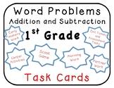 100 1st Math Word Problems Task Cards, Centers Envision, Go Math, My Math, Saxon