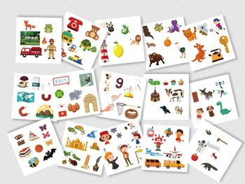 100 + A- Z Vocabulary Illustrations - Phonics 1 (AI Files)