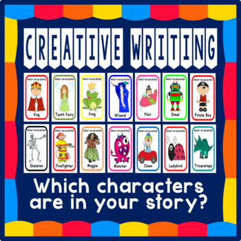 100 A5 CHARACTER FLASHCARDS, FOR STORY WRITING / CREATIVE WRITING