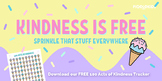 100 Acts of Kindness (Ice Cream Themed Interactive PDF)