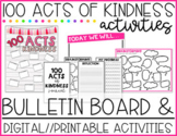 100 Acts of Kindness (Bulletin Board, Digital & Printable